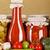 warzyw · domowej · roboty · ketchup · szkła · butelki · świeże · warzywa - zdjęcia stock © erierika