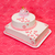 christening cake for girl on pink background stock photo © erierika