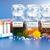 homeopáticos · pílulas · flor · em · torno · de · plástico · pílula - foto stock © erierika