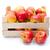 fraîches · pommes · bois · boîte · isolé · blanche - photo stock © erierika