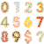 numbers 0 to 9 from decorated cookies stock photo © erierika