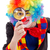 клоуна · увеличительное · стекло · улыбаясь · большой · глядя - Сток-фото © erierika