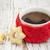 café · biscoitos · azul · copo · café · preto · pote - foto stock © es75