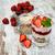 fragola · yogurt · muesli · vecchio · legno · frutta - foto d'archivio © es75