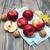 noix · pommes · rustique · bois · bois - photo stock © es75