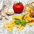 macarrão · ingredientes · alho · tomates · italiano · madeira - foto stock © Es75