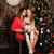 joven · Navidad · presente · árbol · nina · ninos - foto stock © es75