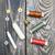 de · costura · alfaiate · madeira · trabalhar · metal · cartão - foto stock © es75