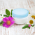 container with cream rose and chamomiles stock photo © es75