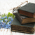 forget me nots flowers and old books stock photo © es75