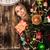 Navidad · curiosidad · dulce · altos · dama · curioso - foto stock © es75
