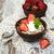 müsli · aardbeien · oude · houten · hout · tabel - stockfoto © Es75
