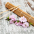 sakura branch and sticks on a bamboo mat stock photo © es75
