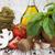 friss · hozzávalók · főzés · tészta · paradicsom · gomba - stock fotó © es75