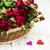 rose · rosse · bianco · legno · fiori · top · view - foto d'archivio © es75