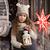 csinos · kislány · elemlámpa · karácsony · idő · baba - stock fotó © es75