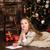notepad · Noel · mektup · hediye · kutusu · kar - stok fotoğraf © es75