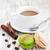 Кубок · кофе · пластина · деревянный · стол · шоколадом - Сток-фото © es75