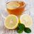 copo · chá · fatia · limão · caseiro - foto stock © es75