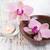orchidee · spa · ancora · vita · fiori · asciugamani · legno - foto d'archivio © es75