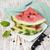 szeletek · piros · görögdinnye · textúra · zöld · szín - stock fotó © es75
