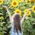 piękna · dziecko · słonecznika · wiosną · dziedzinie · kwiat - zdjęcia stock © es75