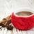 fincan · örgü · baharatlar · ahşap · kahve · beyaz - stok fotoğraf © es75
