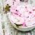 kom · water · roze · witte · bloemen · spa - stockfoto © es75