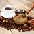 традиционный · чашку · кофе · бобов · текстуры · продовольствие · кадр - Сток-фото © es75