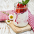 yoghurt · bessen · aardbeien · hout · vruchten · tabel - stockfoto © es75