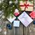Weihnachten · rot · Schnee · Kopie · Raum · glücklich - stock foto © es75