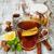 tarçın · fincan · çay · tablo · çöl · zaman - stok fotoğraf © es75