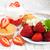 frescos · fresa · yogurt · vainilla · plata · cuchara - foto stock © es75