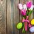 Pink tulips and easter eggs stock photo © Es75