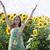 kız · yeşil · gözleri · ayçiçeği · güzel · genç · kadın · yüz - stok fotoğraf © es75