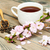 csésze · zöld · tea · japán · cseresznyevirág · kék · szelektív · fókusz - stock fotó © es75