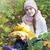 portrait · souriant · fille · lumineuses · écharpe · ensoleillée - photo stock © es75