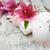 spa · ürünleri · beyaz · zambak · eski · ahşap - stok fotoğraf © es75