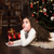 lány · levél · mikulás · vidám · karácsony · boldog - stock fotó © es75