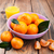 frescos · orgánico · hojas · verdes · hoja · fondo · naranja - foto stock © es75