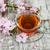 csésze · tea · sakura · virág · rózsaszín · öreg - stock fotó © es75