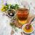 copo · chá · mel · flores · velho - foto stock © Es75