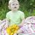 girasole · bambini · primo · piano · bella · guardando - foto d'archivio © es75