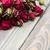 rode · rozen · witte · houten · bloemen · top - stockfoto © es75
