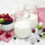 cereza · yogurt · vidrio · jar · frescos · cerezas - foto stock © es75