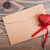 hart · post · houten · papier · Blauw - stockfoto © es75