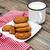 melk · cookies · oude · houten · voedsel - stockfoto © Es75