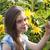 zonnebloem · geluk · portret · cute · vrouwelijke · tweelingen - stockfoto © es75