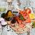 friss · lazac · filé · aromás · gyógynövények · fűszer - stock fotó © es75