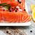 frescos · salmón · filete · aromático · hierbas · especias - foto stock © es75